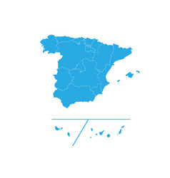 Map of spain provinces high detailed map - spain vector