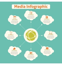 Media global infographics vector