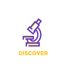 Microscope icon on white vector