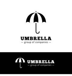 Minimalistic black umbrella logo Simple vector