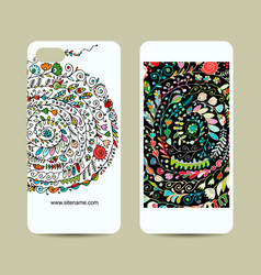 mobile phone design floral background vector image