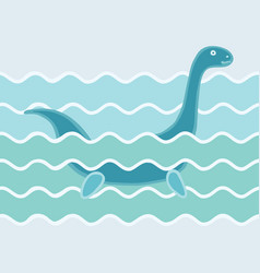 monster in wave vector image