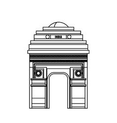 Monument gate delhi india country design vector