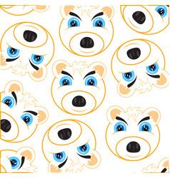 mug polar bear pattern on white background vector image
