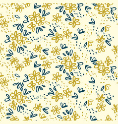 Naive simple floral seamless pattern vector