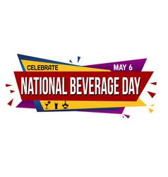 national beverage day banner design vector image