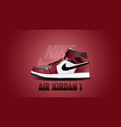 Nike air jordan 1 - sneakers addict vector