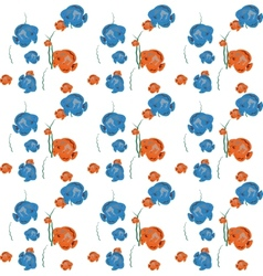 Orange and Blue Fish Seamless Pattern EPS1 vector image
