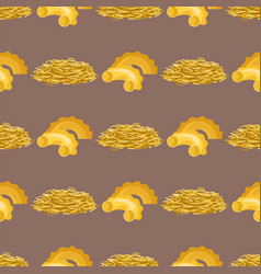 pasta whole wheat seamless pattern corn rice vector image
