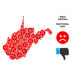 Pitiful west virginia state map collage of vector