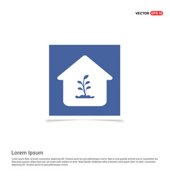 presentation on save the plant icon - blue photo vector image