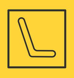 public transportation empty seat isolated vector image