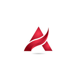 Red a alphabet letter logo icon for business and vector