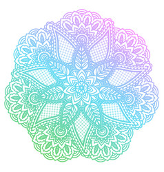 round gradient mandala with floral patterns vector image