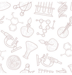 science seamless pattern scientific researches vector image