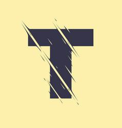 scribbled letter t vector image