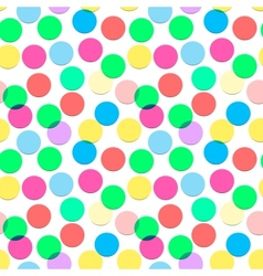 Seamless confetti pattern in candy colors vector image