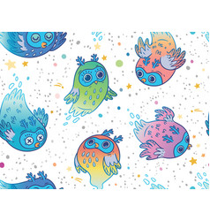 Seamless pattern of cute colorful ghost vector