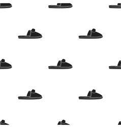 Slippers icon in black style isolated on white vector