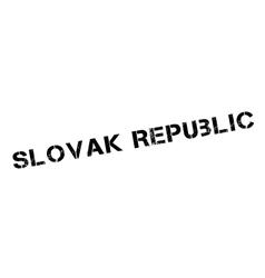 Slovak Republic rubber stamp vector