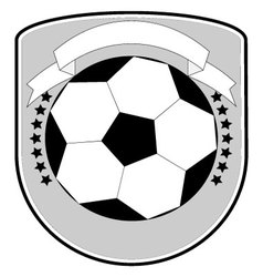 Soccer logo football team vector image