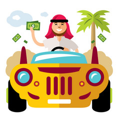 spender of money concept flat style vector image
