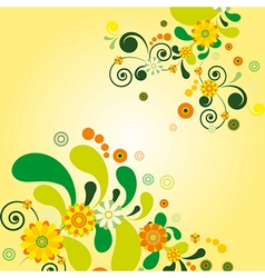 Sun floral background vector image