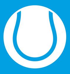 Tennis ball icon white vector