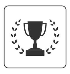 Trophy cup with Laurel wreath icon 3 vector image