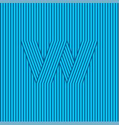 W monogram contrast stripes optical illusion vector