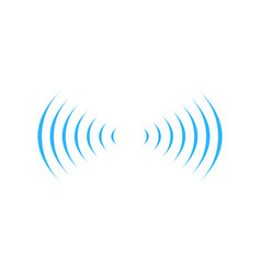 wifi sound signal connection in two dirrections vector image