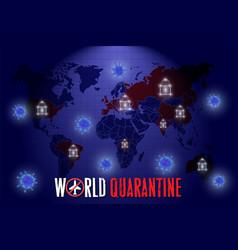 World coronavirus quarantine poster vector
