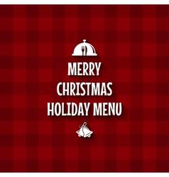 christmas special menu design vector image vector image