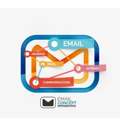 Email infographics with tags vector image