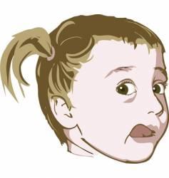 Little girl illustration vector