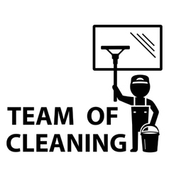 team of cleaning symbol vector image
