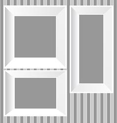 White frames background vector image