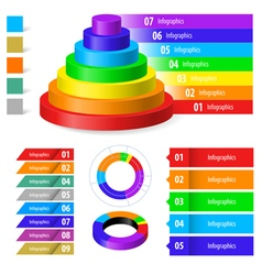 Color infographic vector image vector image