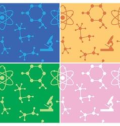 seamless patterns - molecules - set vector image