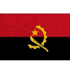 Angola paper flag vector image