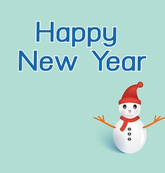 Happy newyear typography greeting card with vector image