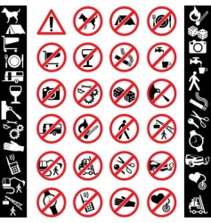 icons safety vector image vector image