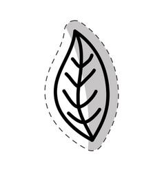 leaf plant flora cut line vector image vector image