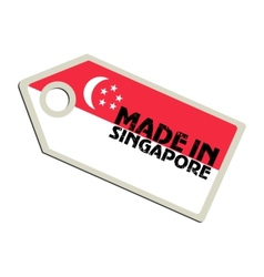 Made in Singapore vector image vector image