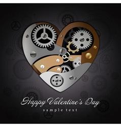 Valentine Heart Mechanisms Background vector image