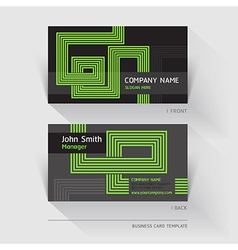 Business card abstract background vector image vector image
