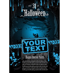 Halloween Fear Horror Party Background vector image vector image