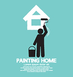 Painting Home Concept vector image vector image