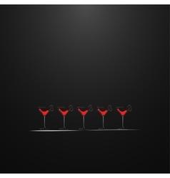 Shots with a drink Menu design vector image