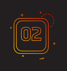 2 date calender icon design vector image